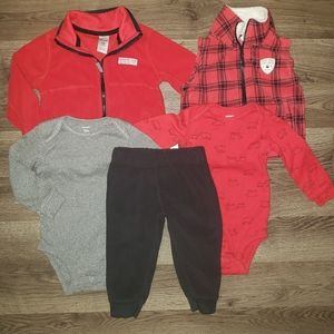 🎄 12-18m Carters | Outfit 5pc. Winter Lot